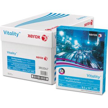 Fourniture Xerox Vitality(Tm) Papier Multifonction Pour Imprimante, 30 % Recyclé, 20 Lb, 8,5x14 Po, 5 000 Feuilles